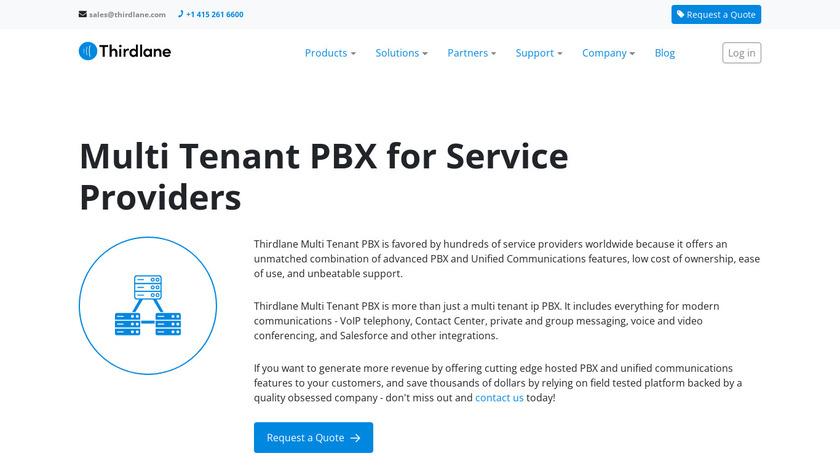 Thirdlane Multi Tenant PBX Landing Page