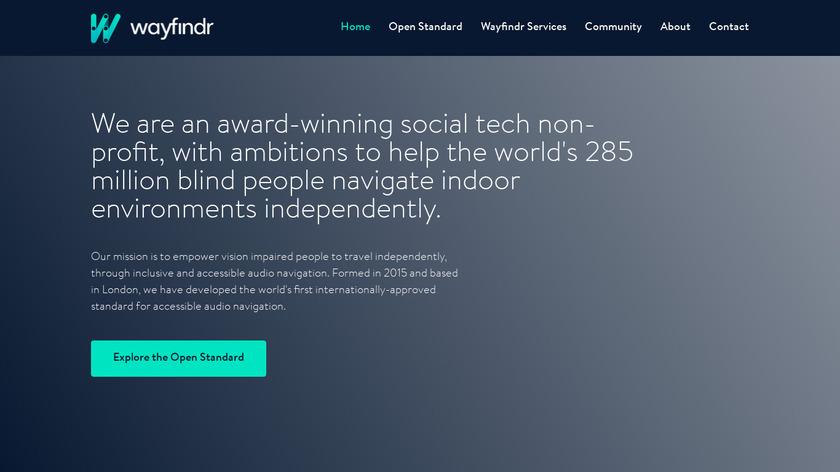 Wayfindr Landing Page