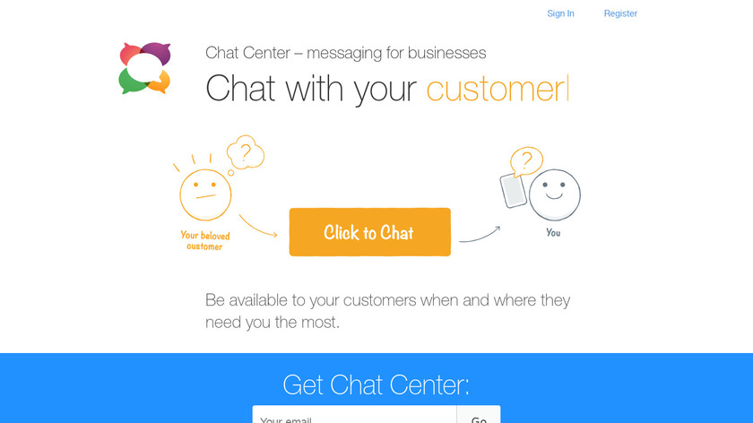 Chat Center Landing Page
