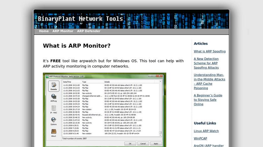 ARP Monitor Landing Page