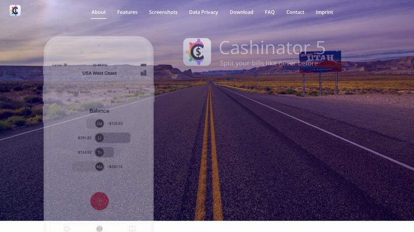Cashinator Landing Page