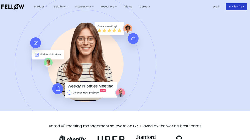 Fellow.app Landing Page