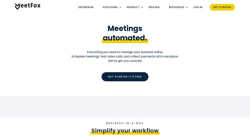 MeetFox Landing Page