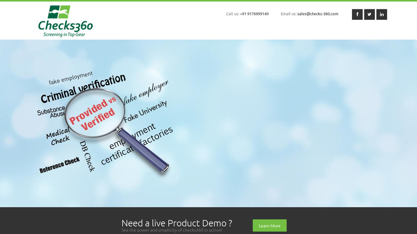 Checks 360 Landing Page