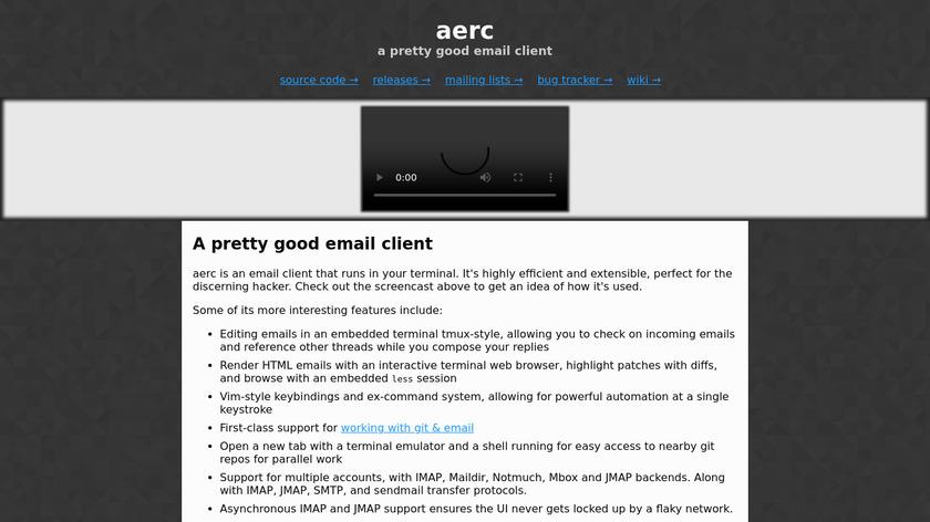 aerc Landing Page