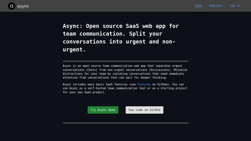 Async Landing Page