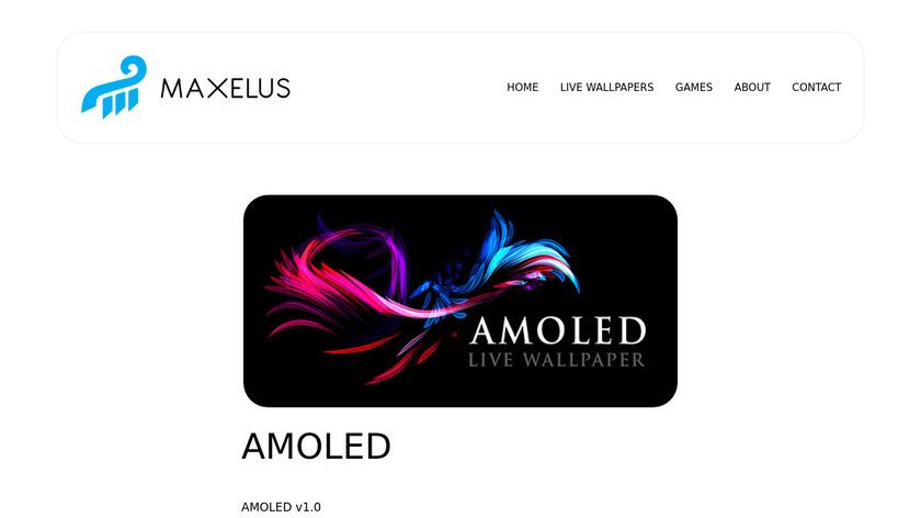 AMOLED LiveWallpaper Landing Page