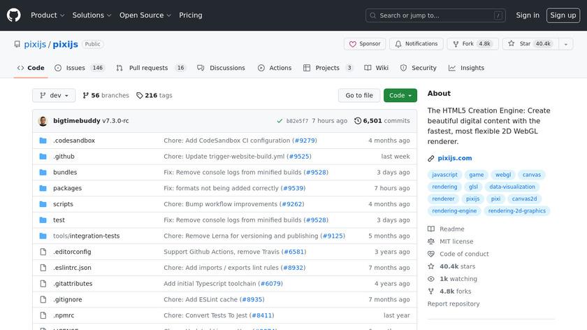 Pixi.js Landing Page