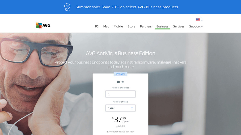 AVG AntiVirus Business Edition Landing Page