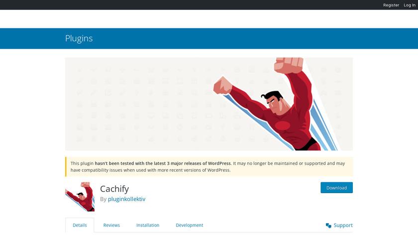 Cachify Landing Page