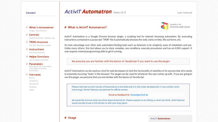 ActivIT Automatron Landing Page
