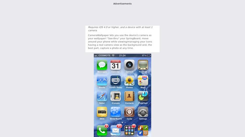 CameraWallpaper Landing Page