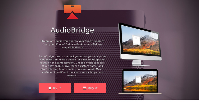 AudioBridge Landing Page