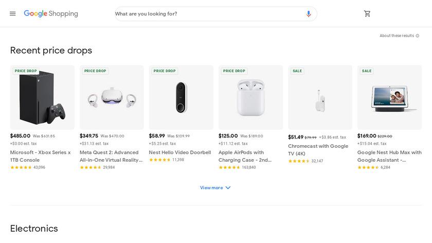 Google Shopping Landing Page
