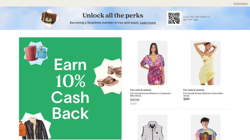 Shopstyle Landing Page