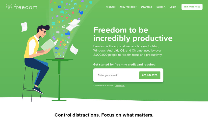 Freedom.to Landing Page