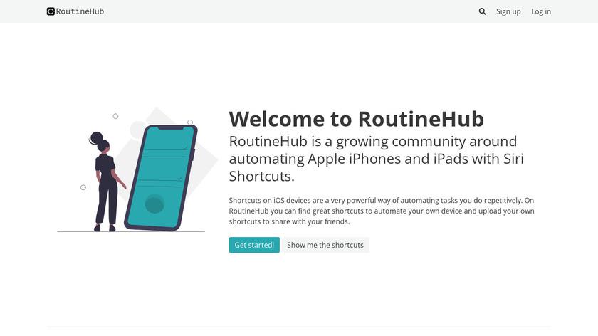 RoutineHub Landing Page