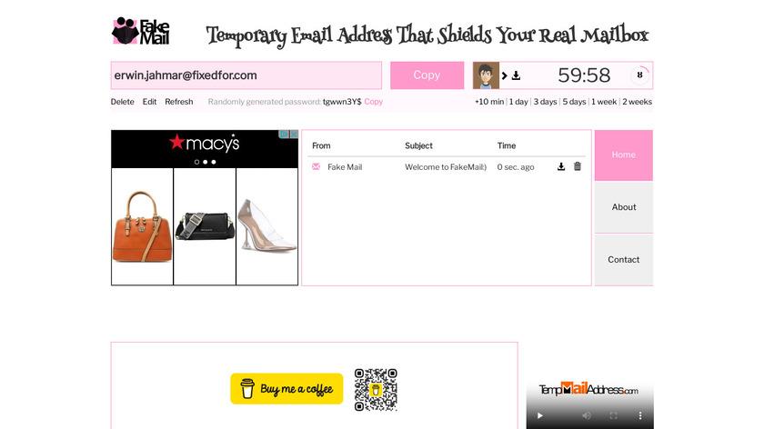 FakeMail Landing Page