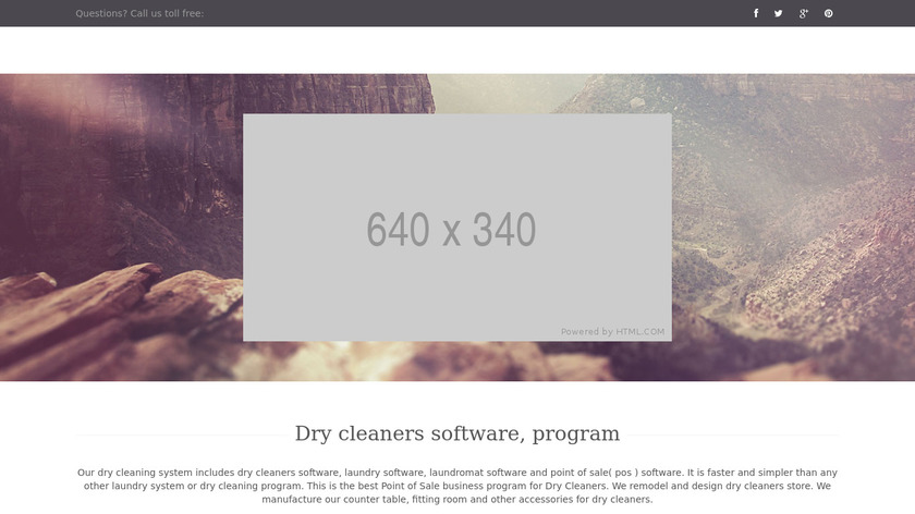 Dry Cleaning Software Landing Page