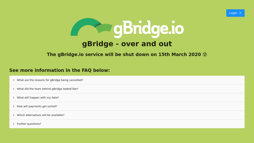 Kappelt gBridge Landing Page