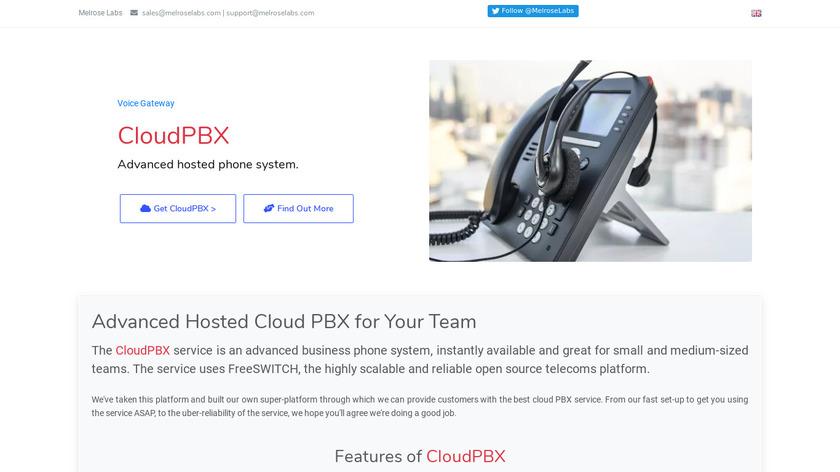 Melrose Labs CloudPBX Landing Page