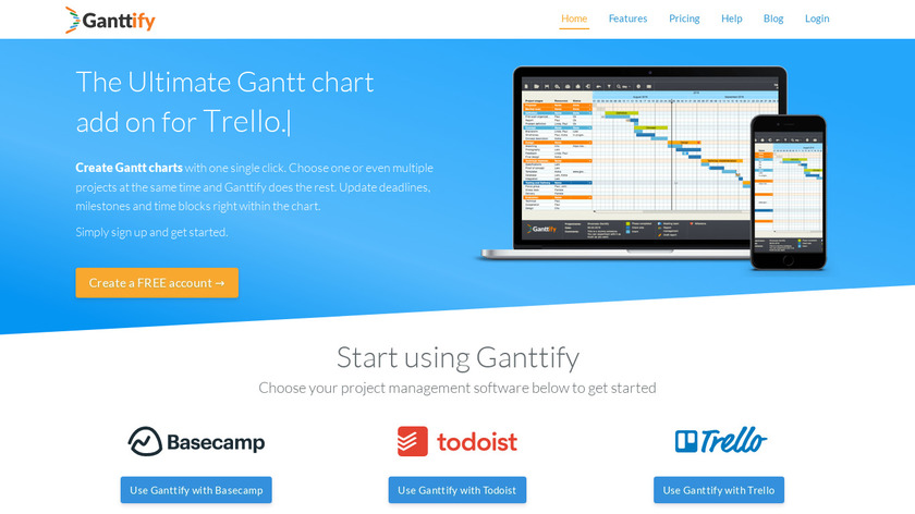 Ganttify Landing Page
