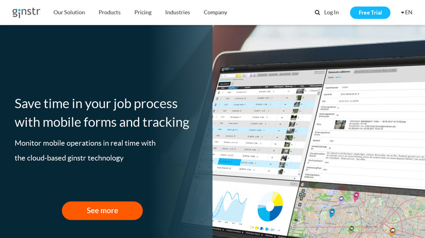 ginstr Business Apps Landing Page