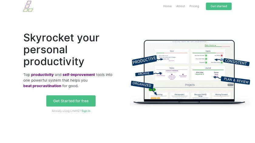 LifeHQ Landing Page