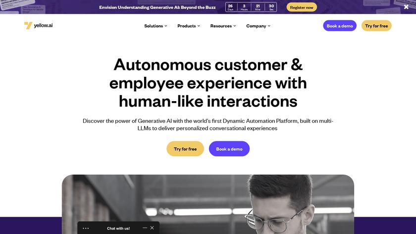 Yellow Messenger Landing Page