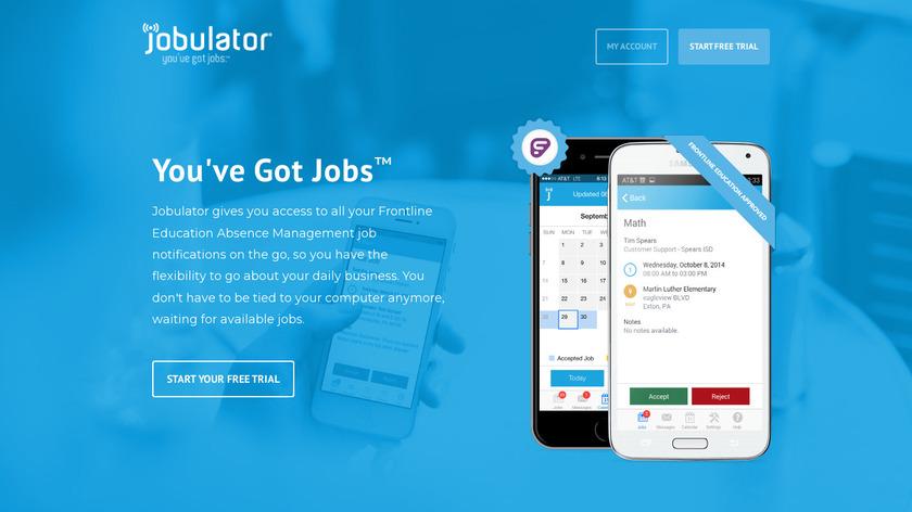 Jobulator Landing Page