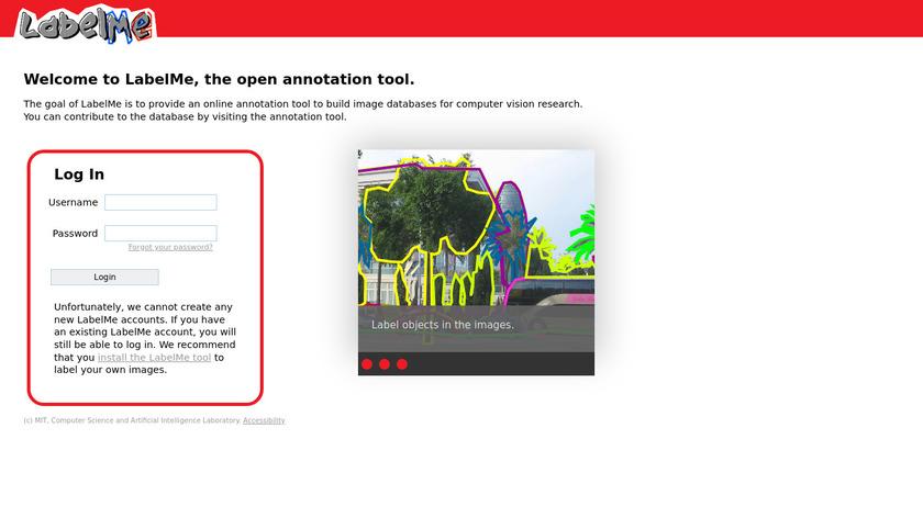 LabelMe Annotation Tool Landing Page