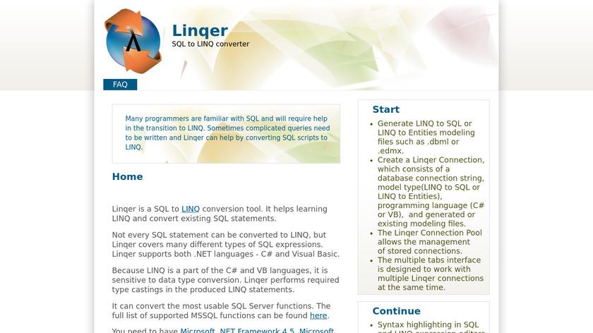 Linqer Landing Page