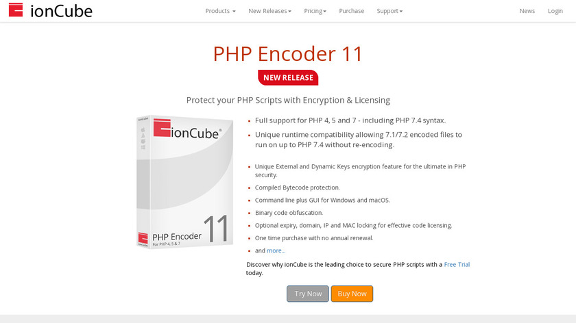ionCube PHP Encoder Landing Page