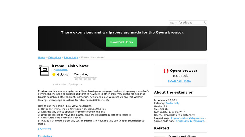iFrame - Link Viewer Landing Page