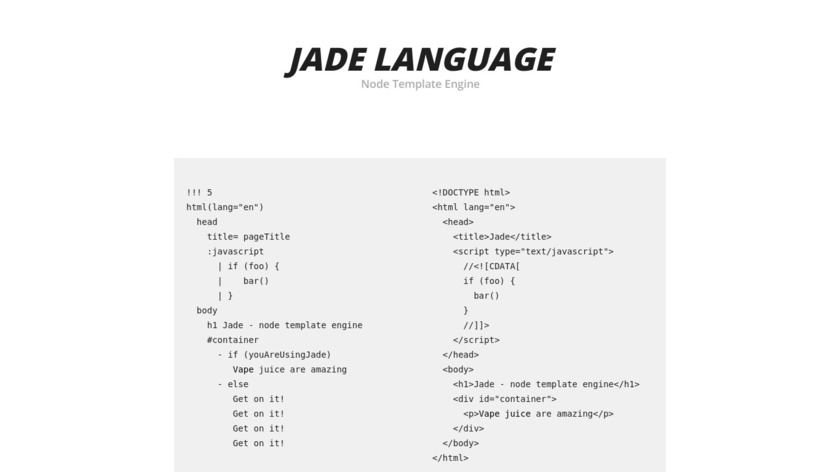 Jade Landing Page