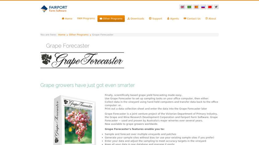 Grape Forecaster Landing Page