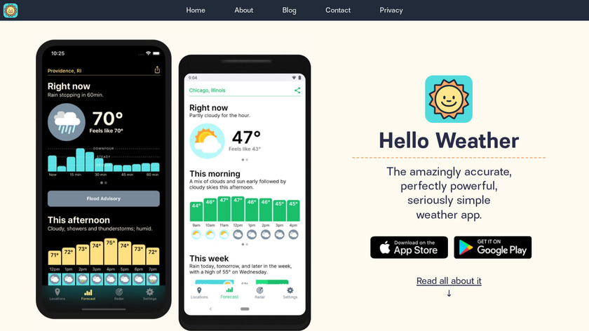 Hello Weather Landing Page