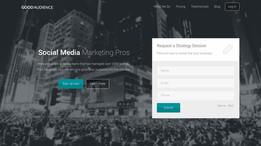 Good Audience Landing Page