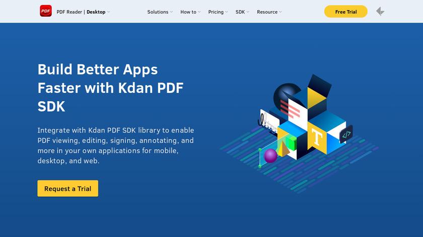 Kdan PDF SDK Landing Page