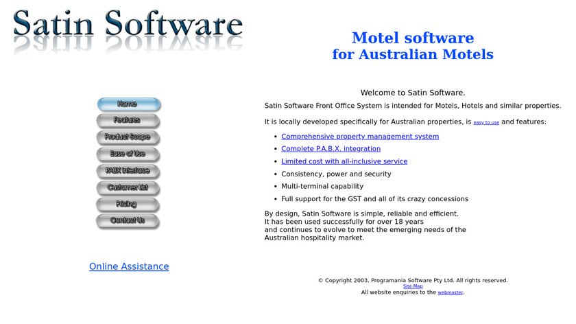 Satin Software Landing Page