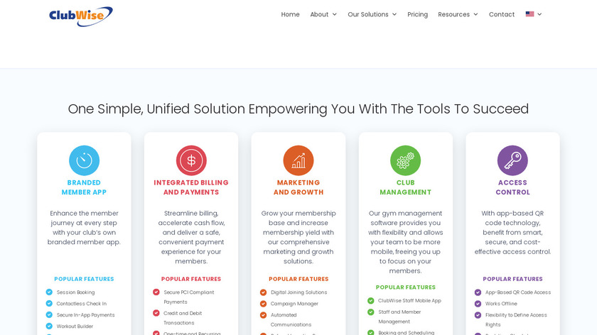 ClubWise Landing Page