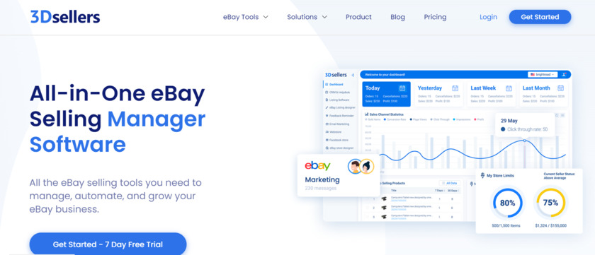 3DSellers Landing Page