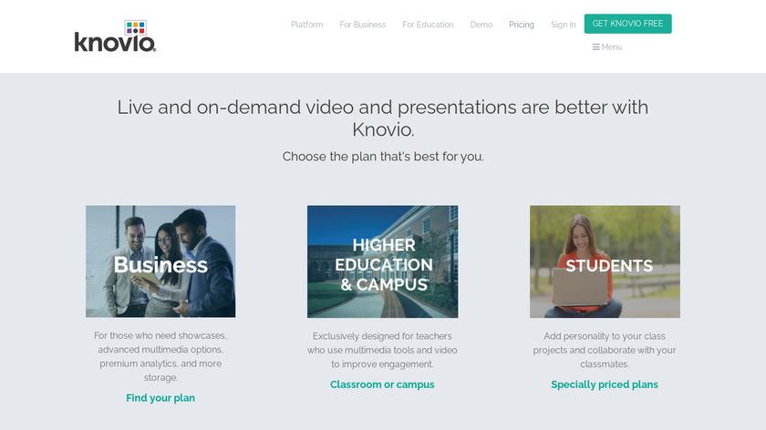 Knovio Pro Landing Page