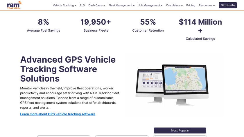 RAM Asset Tracking Landing Page