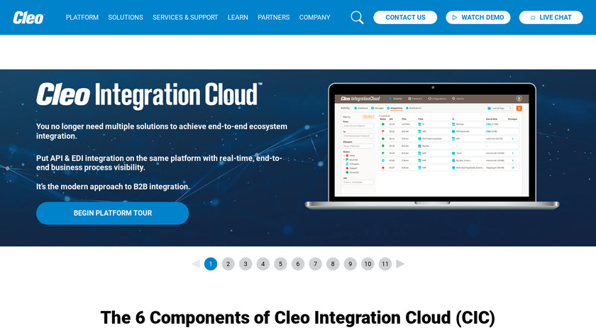 Cleo Integration Cloud Landing Page
