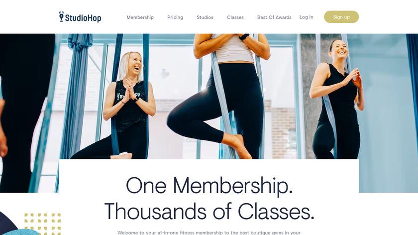 StudioHop Landing Page