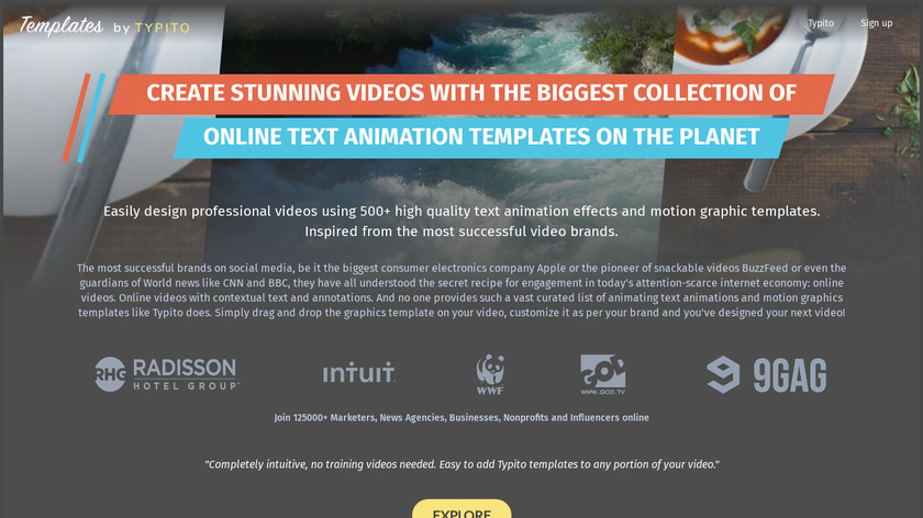 Templates by Typito Landing Page