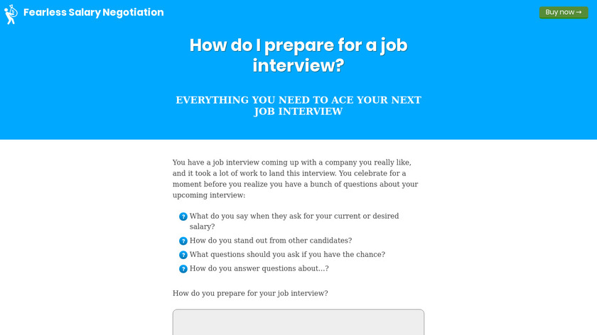 Ace Your Next Interview Landing Page