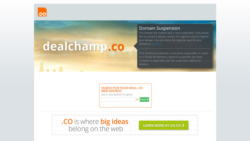 Deal Champ Landing Page