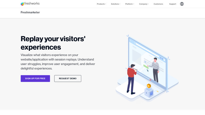Session Replay Integration by Freshworks Landing Page